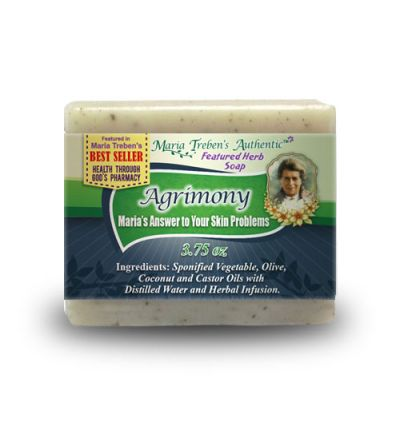 Agrimony (Agrimonia eupatoria) 3.75oz Bar Handcrafted Herbal Soap - Maria Treben's Authentic™ Featured Herb