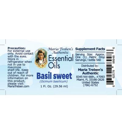 Basil sweet (Ocimum basilicum) - 30 ml.