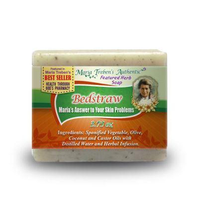 Bedstraw (Galium) 3.75oz Bar Handcrafted Herbal Soap - Maria Treben's Authentic™ Featured Herb
