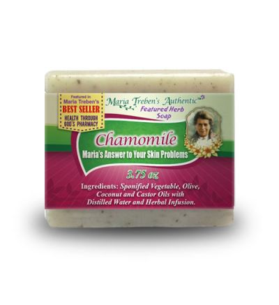 Chamomile (Matricaria chamomilla) 3.75oz Bar Handcrafted Herbal Soap - Maria Treben's Authentic™ Featured Herb