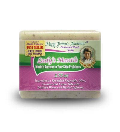 Lady's Mantle (Alchemilla vulgaris) 3.75oz Bar Handcrafted Herbal Soap - Maria Treben's Authentic™ Featured Herb