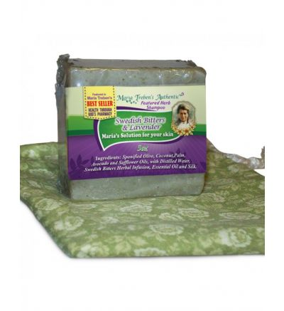 Swedish Bitters and Lavender  3oz Bar Handcrafted Herbal Shampoo - Maria Treben's Authentic™