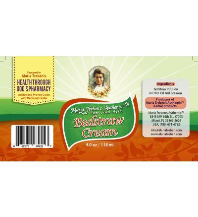 Bedstraw (Galium) 4oz/118ml Herbal Cream - Maria Treben's Authentic™ Featured Herb