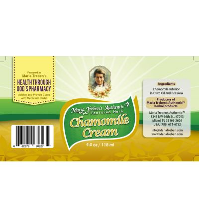Chamomile (Matricaria chamomilla) 4oz/118ml Herbal Cream - Maria Treben's Authentic™ Featured Herb