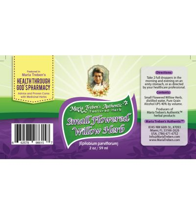 Small Flowered Willow-Herb (Epilobium parviflorum) 2oz/59ml Herbal Extract / Tincture - Maria Treben's Authentic™ Featured Herb