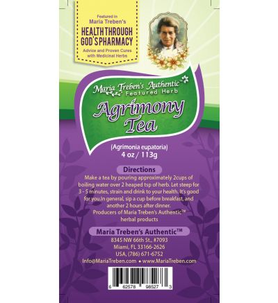 Agrimony (Agrimonia eupatoria) 4oz/113g Herbal Tea - Maria Treben's Authentic™ Featured Herb