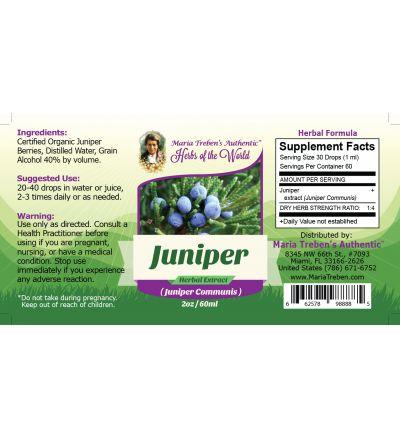 Juniper (Juniperus Communis) 2oz/59ml Herbal Extract / Tincture - Maria Treben's Authentic™ Herbs of the World