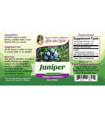 Juniper (Juniperus Communis) 4oz/118ml Herbal Extract / Tincture - Maria Treben's Authentic™ Herbs of the World