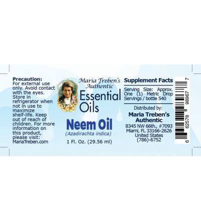 Neem Oil (Azadirachta indica) - 30 ml.