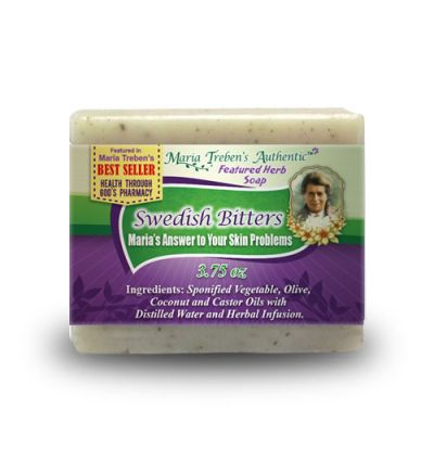 Swedish Bitters 3.75oz Bar Handcrafted Herbal Soap - Maria Treben's Authentic™
