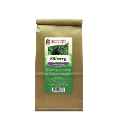 Bilberry (Vaccinium myrtillus) 4oz/113g Herbal Tea - Maria Treben's Authentic™ Herbs of the World