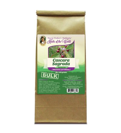 Cascara Sagrada Bark (Rhamnus purshiana) 1lb/454g BULK Herbal Tea - Maria Treben's Authentic™ Herbs of the World