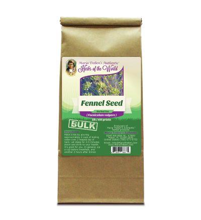 Fennel Seed (Foeniculum vulgare) 1lb/454g BULK Herbal Tea - Maria Treben's Authentic™ Herbs of the World