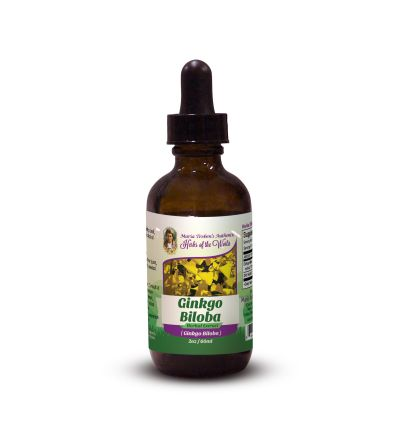 Ginkgo Leaf (Ginkgo Biloba) 2oz/59ml Herbal Extract / Tincture - Maria Treben's Authentic™ Herbs of the World