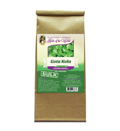 Gotu Kola Leaf (Centella asiatica) 1lb/454g BULK Herbal Tea - Maria Treben's Authentic™ Herbs of the World