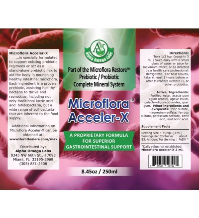 Microflora Acceler-X (prebiotic) - 48 Day Supply!