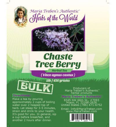 Chaste Tree Berry (Vitex agnus castus) 1lb/454g BULK Herbal Tea - Maria Treben's Authentic™ Herbs of the World