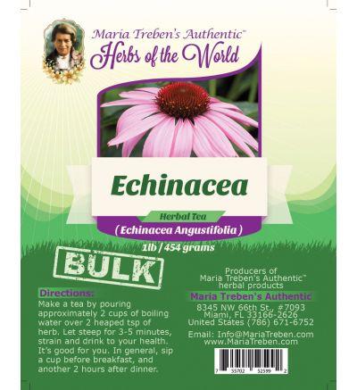 Echinacea (Echinacea Angustifolia L.) 1lb/454g BULK Herbal Tea - Maria Treben's Authentic™ Herbs of the World