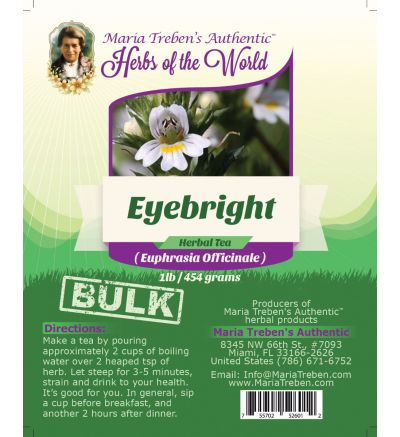 Eyebright Leaf (Euphrasia fficinalis) 1lb/454g BULK Herbal Tea - Maria Treben's Authentic™ Herbs of the World