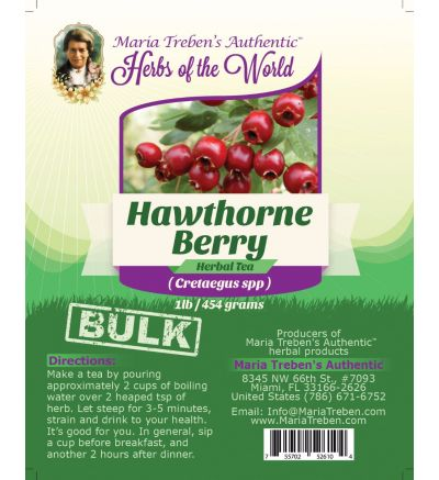 Hawthorne Berry (Cretaegus Oxycanthus) 1lb/454g BULK Herbal Tea - Maria Treben's Authentic™ Herbs of the World