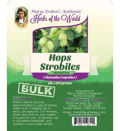 Hops Strobiles (Humulus Lupulus) 1lb/454g BULK Herbal Tea - Maria Treben's Authentic™ Herbs of the World
