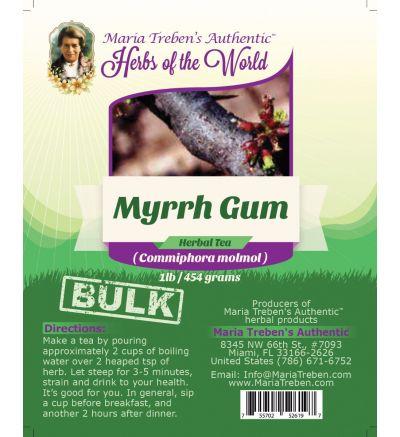 Myrrh Gum (Commiphora Myrrha) 1lb/454g BULK Herbal Tea - Maria Treben's Authentic™ Herbs of the World