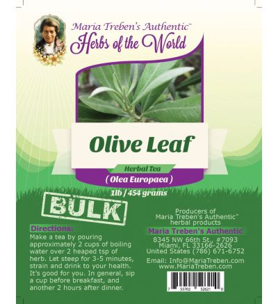Olive Leaf (Olea Europaea) 1lb/454g BULK Herbal Tea - Maria Treben's Authentic™ Herbs of the World