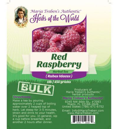Red Raspberry (Rubus Idaeus) 1lb/454g BULK Herbal Tea - Maria Treben's Authentic™ Herbs of the World