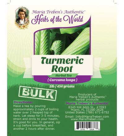 Turmeric Root (Curcuma Longa) 1lb/454g BULK Herbal Tea - Maria Treben's Authentic™ Herbs of the World