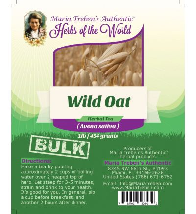 Wild Oat Seed (Avena sativa) 1lb/454g BULK Herbal Tea - Maria Treben's Authentic™ Herbs of the World