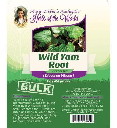 Wild Yam Root (Dioscorea Villosa) 1lb/454g BULK Herbal Tea - Maria Treben's Authentic™ Herbs of the World