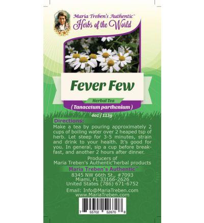 Feverfew Leaf (Tanacetum Parthenium) 4oz/113g Herbal Tea - Maria Treben's Authentic™ Herbs of the World