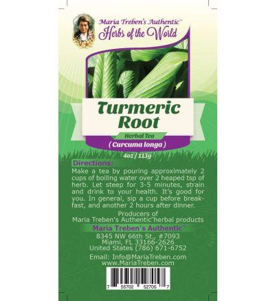Turmeric Root (Curcuma Longa) 4oz/113g Herbal Tea - Maria Treben's Authentic™ Herbs of the World