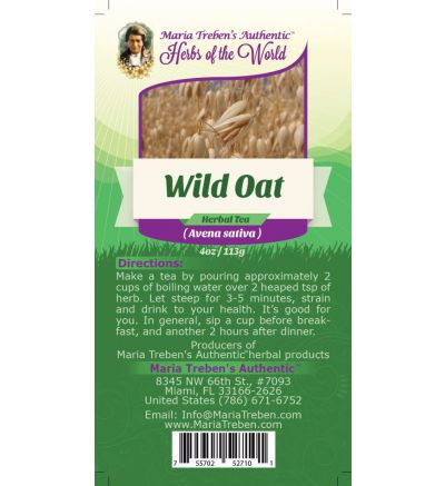 Wild Oat Seed (Avena sativa) 4oz/113g Herbal Tea - Maria Treben's Authentic™ Herbs of the World
