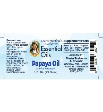 Papaya Oil - 30 ml. (Carica papaya).