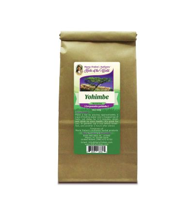 Yohimbe (Pausinystalia yohimbe) 4oz/113g Herbal Tea - Maria Treben's Authentic™ Herbs of the World