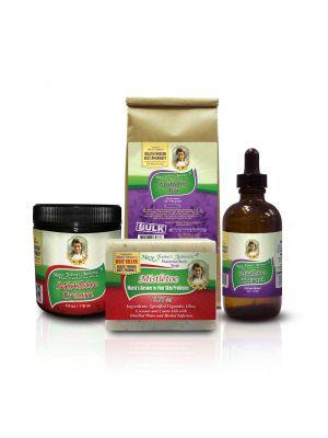 1-Mistletoe Tea 1lb, 1-Mistletoe Tincture 4oz, 1-Mistletoe Soap, and 1-Mistletoe Cream