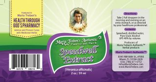Speedwell (Veronica officinalis) 2oz/59ml Herbal Extract / Tincture - Maria Treben's Authentic™ Featured Herb