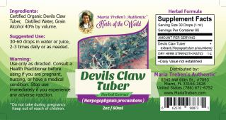 Devil's Claw Tuber (Harpagophytum procumbens) 2oz/59ml Herbal Extract / Tincture - Maria Treben's Authentic™ Herbs of the World