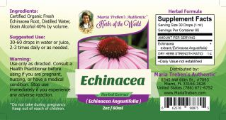 Echinacea (Echinacea Angustifolia L.) 2oz/59ml Herbal Extract / Tincture - Maria Treben's Authentic™ Herbs of the World