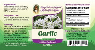 Garlic Bulb (Allium sativum) 1lb/454g BULK Herbal Tea - Maria Treben's Authentic™ Herbs of the World