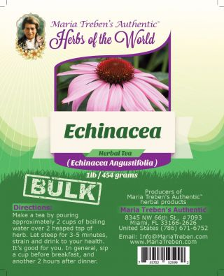 Echinacea (Echinacea Angustifolia L.) 1lb/454g BULK Herbal Tea - Maria Treben's Authentic™ Herbs of the World