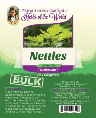 Nettles Leaf (Urtica Dioica) 1lb/454g BULK Herbal Tea - Maria Treben's Authentic™ Herbs of the World