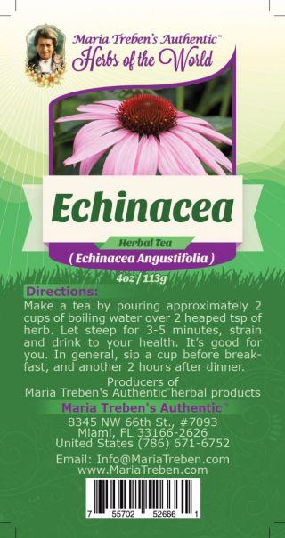 Echinacea (Echinacea Angustifolia L.) 4oz/113g Herbal Tea - Maria Treben's Authentic™ Herbs of the World
