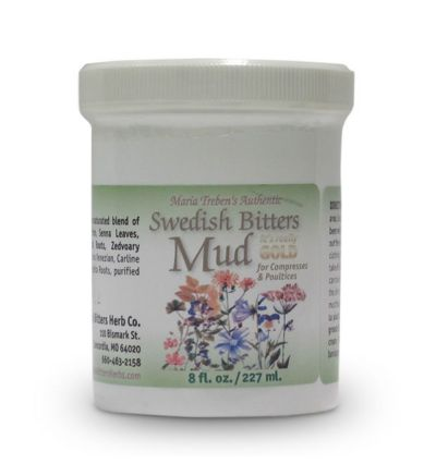 Maria Treben's Authentic™ Swedish Bitters Mud (8oz/227ml) jar