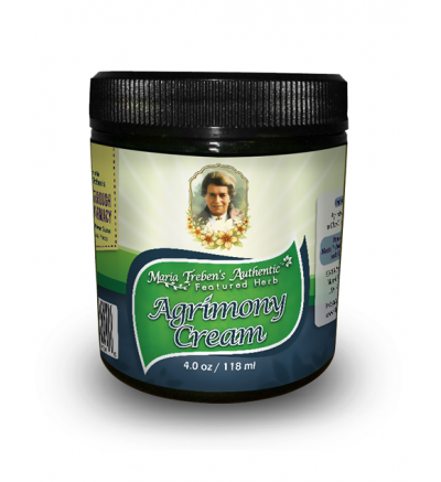 Agrimony (Agrimonia eupatoria) 4oz/118ml Herbal Cream - Maria Treben's Authentic™ Featured Herb