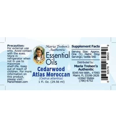 Cedarwood Atlas Moroccan (Cedrus atlantica) - 30 ml.