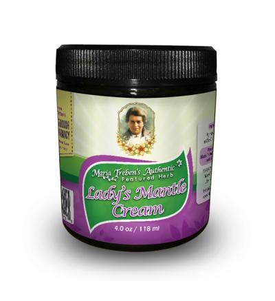 Lady's Mantle (Alchemilla vulgaris) 4oz/118ml Herbal Cream - Maria Treben's Authentic™ Featured Herb