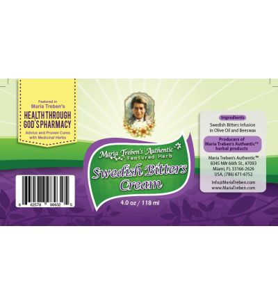 Swedish Bitters 4oz/118ml Herbal Cream - Maria Treben's Authentic™