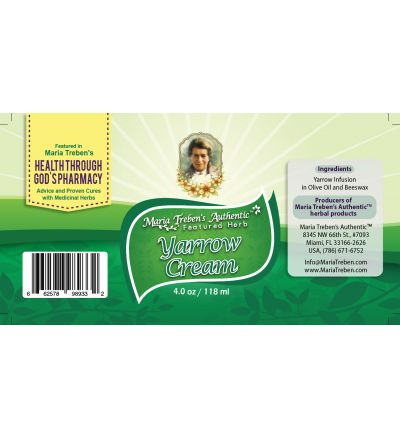 Yarrow (Achillea millefolium) 4oz/118ml Herbal Cream - Maria Treben's Authentic™ Featured Herb